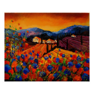 tuscany poppies 45 poster