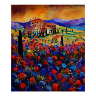 tuscany poppies 67 poster