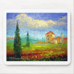 Tuscany Poppies Mouse Pads