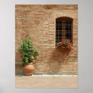Tuscany pot plants poster