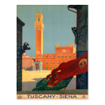 Tuscany Siena Italy Vintage Italian Travel Poster Post Cards