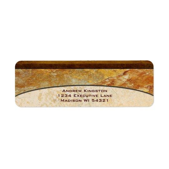 Tuscany Stone Marble Architectural Custom Return Address Label
