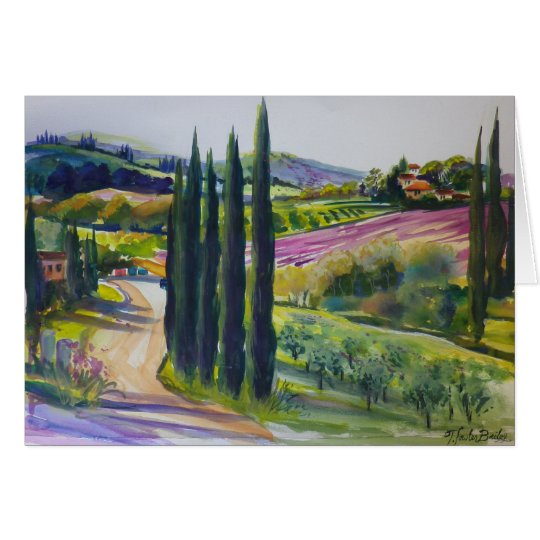 Tuscany Where I Painted Plein Air Blank CARD