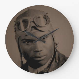 Tuskegee Airman Wall Clock