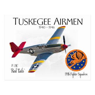 Tuskegee Airmen  1940-1946 WW II Postcard