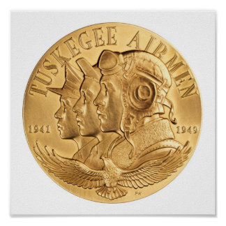 Tuskegee Airmen Gold Medal Poster