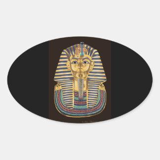 Tutankhamon's Golden Mask Oval Sticker