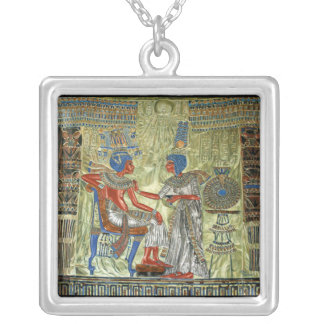 Tutankhamon's Throne Silver Plated Necklace