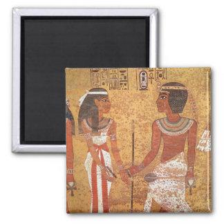 Tutankhamun  and his wife, Ankhesenamun Magnet