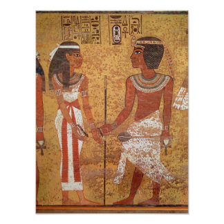 Tutankhamun  and his wife, Ankhesenamun Poster