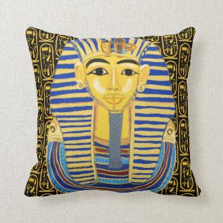 Tutankhamun Gold Mask and Cartouche Cushion