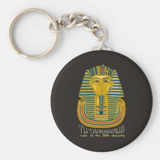 Tutankhamun mummy, the ancient King Tut of Egypt Basic Round Button Key Ring