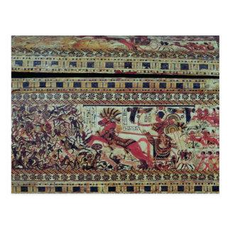 Tutankhamun  on his chariot attacking Africans Postcard