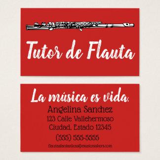 Tutor de Flauta Business Card