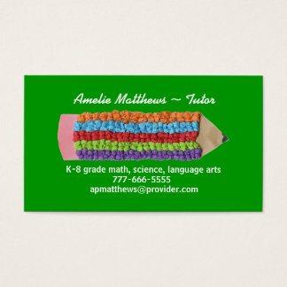Tutoring business card