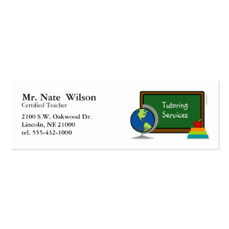 tutoring services mini BUSINESS CARD