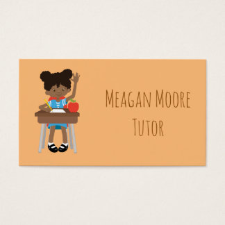 Tutoring students business card