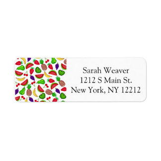 Tutti Fruity Hand Drawn Summer Mixed Fruit Return Address Label
