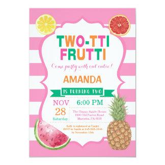 Tutti Frutti Birthday Party Invitation 2nd Bday
