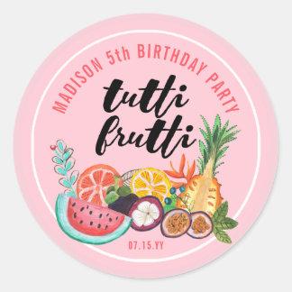 Tutti Frutti | Birthday Party | Sticker