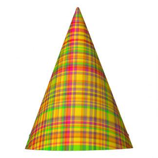 Tutti Frutti PLAID 2-PAPER PARTY HATS