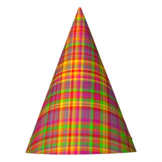 Tutti Frutti PLAID 3-PAPER PARTY HATS