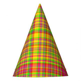 Tutti Frutti PLAID 4-PAPER PARTY HATS