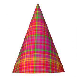 Tutti Frutti PLAID 5-PAPER PARTY HATS