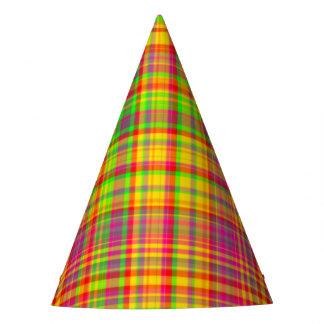 Tutti Frutti PLAID 9-PAPER PARTY HATS
