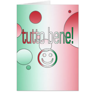 Tutto Bene! Italy Flag Colors Pop Art Note Card