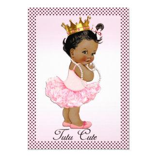 Tutu Cute Ethnic Princess Pearls Polka Dots Card