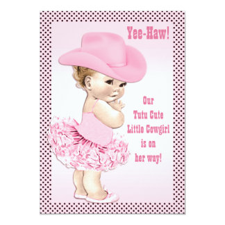 Tutu Cute Little Cowgirl Baby Shower 13 Cm X 18 Cm Invitation Card