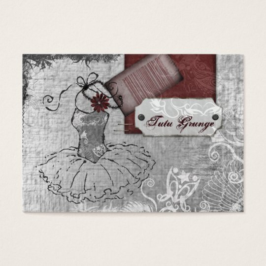 Tutu Grunge Chubby Business Cards