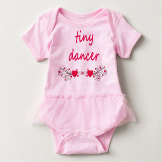 "Tutu onsie, pink. ""Tiny Dancer"" artwork on front. Baby Bodysuit"