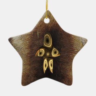 Tuvaaq - Fractal Inuit Hunter Ceramic Ornament