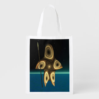 Tuvaaq - Fractal Inuit Hunter Reusable Grocery Bag