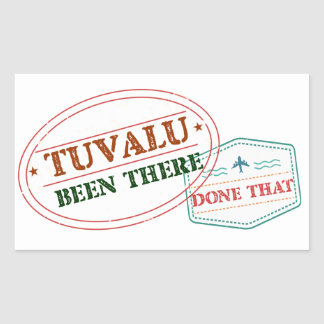 Tuvalu Been There Done That Rectangular Sticker