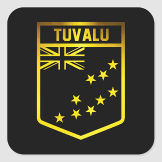 Tuvalu Emblem Square Sticker
