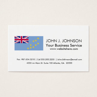 Tuvalu Flag Business Card