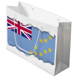 Tuvalu Flag Large Gift Bag