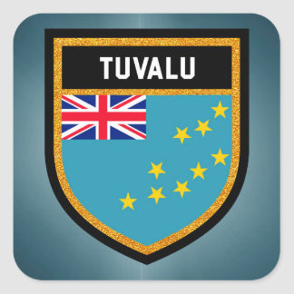 Tuvalu Flag Square Sticker