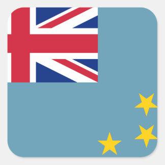 Tuvalu Flag Square Sticker