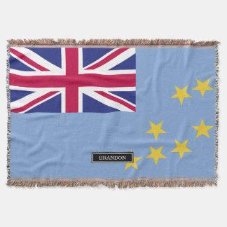 Tuvalu Flag Throw Blanket
