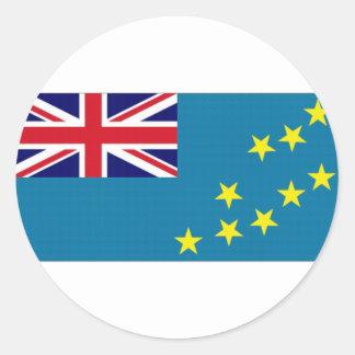Tuvalu National Flag Classic Round Sticker