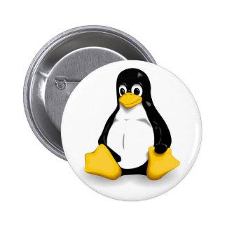 Tux 6 Cm Round Badge