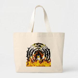 TUX Fire Target Jumbo Tote Bag