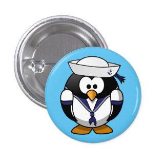Tux Linux marine penguin swipes in 3 Cm Round Badge