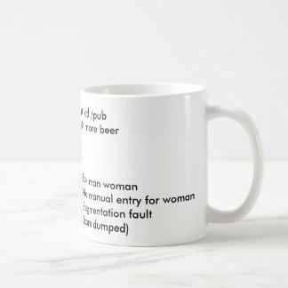 TUX MAN WOMAN COFFEE MUGS