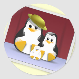 Tux s Family Stickers