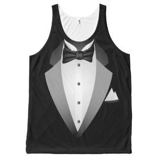 Tuxedo All-Over Print Singlet